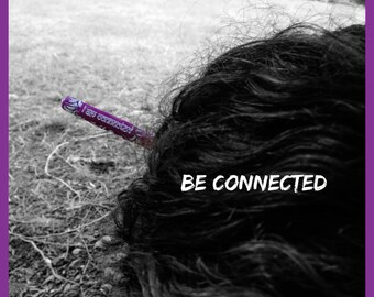 I am Connected Hair Stick Empowerment Hair Stick Reiki Hair Stick Chinese Bun Custom Hair Stick Etchythings and Accents