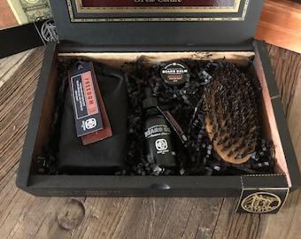 Ego Soap Company Natural Beard Gift Kit. Say Happy Father's Day to him and his beard! Beard Oil, Beard Balm, Soap, and Beard Brush.