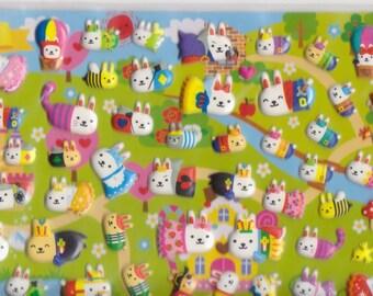 Rabbit Stickers - Puffy Stickers - Mind Wave - Reference F737F893-94F1420F1475F1631F2763