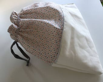 bag with polka dots