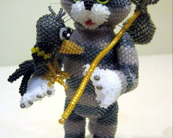 "Pattern / Tutorial Beaded Ornament - Master class for creating ""The cat Matroskin"""