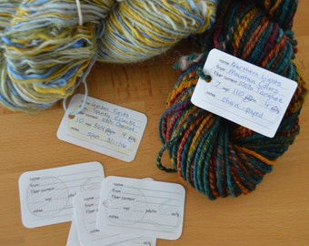 Handspun Yarn Info Tags, Printable