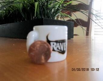 MINIATURE coffee mug, vintage Ravens football helmet Baltimore keepsake NFL