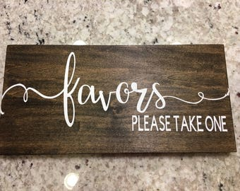 Favors Please Take One