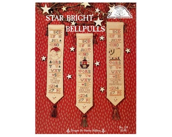 Bell Pulls Cross Stitch, Christmas Cross Stitch, Cross Stitch Pamphlet, Bell Pulls Patterns, Homespun Elegance, by NewYorkTreasures Etsy