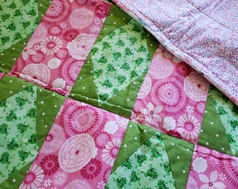 Frog quilted Froggy baby blanket