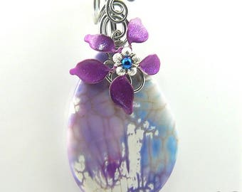 Pendentif Sezny - agate wire wrapped