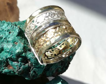 Mixed metal ring, Stacking ring Set, Mixed stacking ring,Skinny stacking rings,Mixed metal stacking rings, Solid stacking rings,Spinner ring