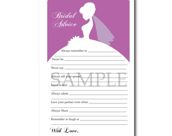5 Dazzling Purple Orchid Bridal Shower Printable Games: Famous Couples,What's in your Purse Game, Word Scramble, Bridal Advice, ect