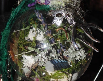 Witch Ball, Mum Gaia Protection Spell Orb, Witches Spell Orb, Earth Energy, Witchcraft, Wicca, Pagan Gift, Witchy Gift, Housewarming Gift