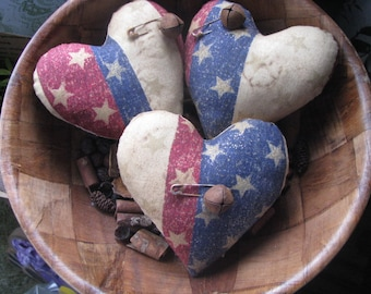 Patriotic hearts, hearts, Patriotic bowl fillers, bowl fillers, 4th of July bowl fillers, Americana, gift for her, hostess gift