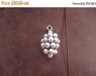 ON SALE Vintage Mexican Sterling Silver Grape Pendant
