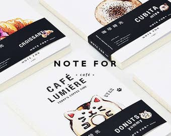 Cafe Time Minimalist Notebook,blank notebook,Diary,Journal,Planner,Journal Insert,Planner Insert,Travel Blank Notebook,Coffe,Donut,Pizza