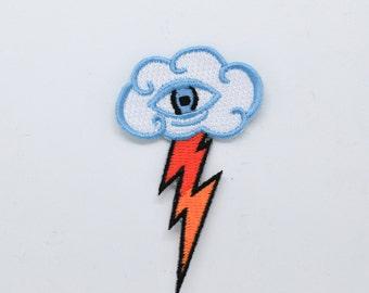 Eye Cloud iron on patch