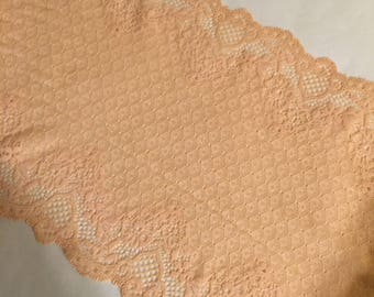 """8""""/20cm Vintage Apricot Stretch Galloon Lace Price"""