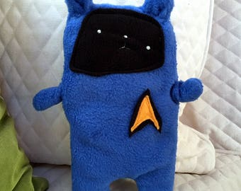 Spock ~ The Star Trek Bunny Bummlie ~ Stuffing Free Dog Toy ~ Ready To Ship Today