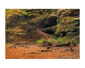 """Fine Art Color Landscape Photography of Starved Rock State Park in Illinois - """"Owl Canyon 1"""""""