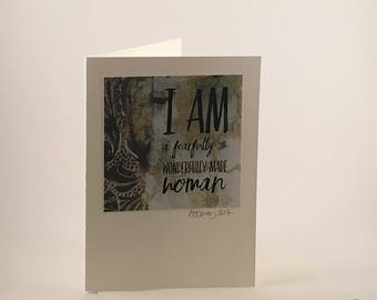 """Christian Scripture Greeting Card - """"Fearfully & Wonderfully Made"""""""