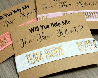 Will You Help Me Tie The Knot Hair Tie Favors | Team Bride Hair Tie Favors | Bridesmaid Proposal Hair Tie Favors | Maid of Honor Proposal