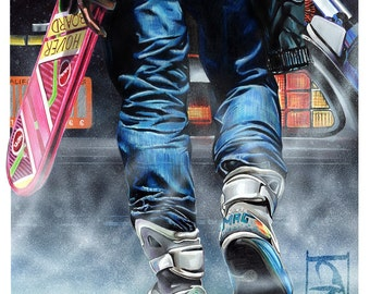 Back to the Future Pt II A3 Print