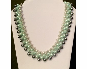 Ombre Glass Pearl Necklace