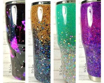Glitter Tumbler//Stainless Steel Tumbler//HOGG 30oz 20oz Tumbler//Glitter Dipped//Personalized Tumbler//Custom Tumbler//Mother's Day Gift