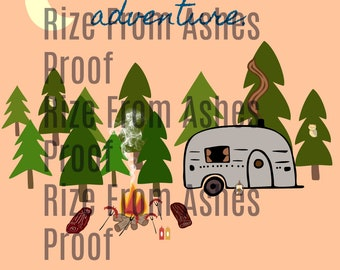 Camping Adventure Digital Download | 8.5 by 11 Inches