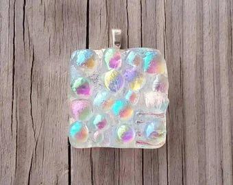Bigsky Rainbow Colors Dichroic Glass Pendant