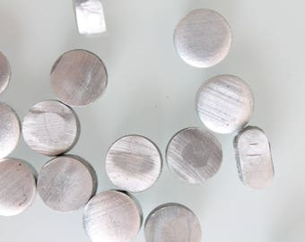 "20 oval pellets in aluminum metal, length 10mm * 6mm - 0.39 ""x 0.24"""