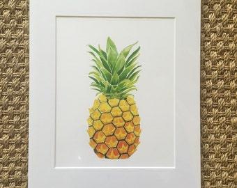 Pineapple, art, prints, pineapple print, pineapple art, art for kitchen, gift under 20