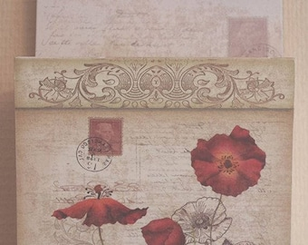 Poppy Poppies Letter Rack Extra Large Wall Hung SG1239