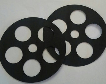 Film Reel Cutouts, Hollywood Birthday Party, Graduation Party, Movie Theme Decorations