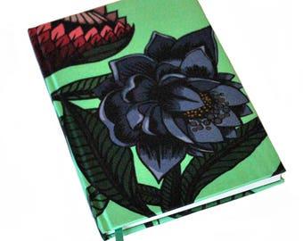 A5 Silk Bound Notebook / A5 Silk Journal / Floral Notebook / Floral Journal / Luxury Stationery