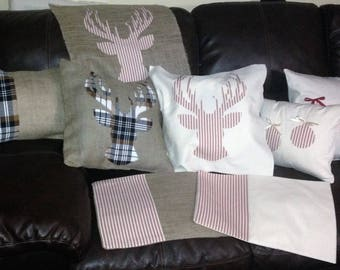Deer Antlers Pillow Cover