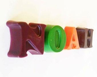 Name Crayons, Alphabet Letters, Crayons, Personalized Gift, ABC, Personalized Name, Party Favors, Custom Name, Alphabet, Your Name, Novelty
