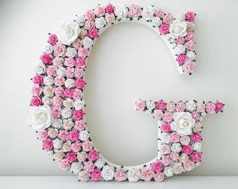 Flower letter // nursery decor// baby shower gift //christening gift // wedding gift // birthday gift // nursery decor // new baby gift //fl