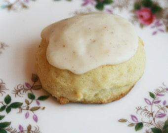 Eggnog Cookies with an Eggnog Glaze (ONE DOZEN)