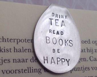 Spoon, bookmark, drink tea, read books, be happy, gero zilmeta, tea spoon, stainless steel