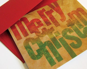 Brown Bag Merry Christmas - card set of 8