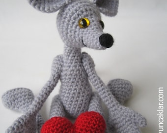 Amigurumi 5 ways jointed Mouse Pattern