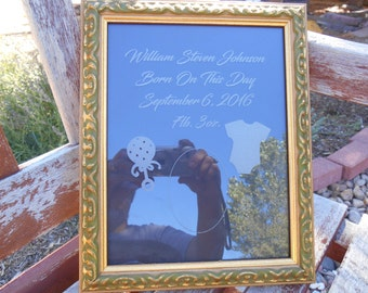 Laser Etched/Engraved Picture Frame For New Baby, newborn,baby shower,birthday