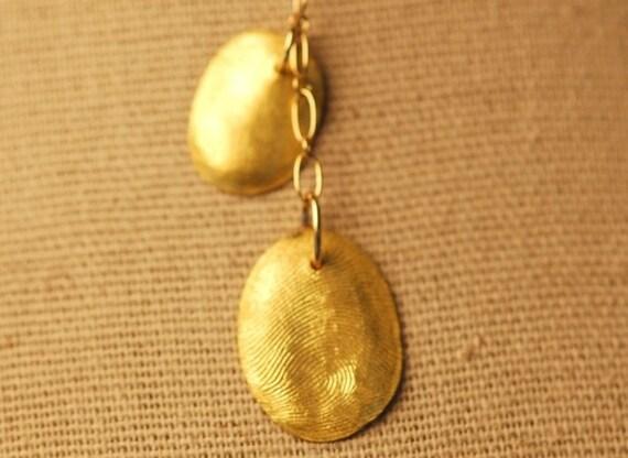 22k Gold Custom Thumprints - Siblings