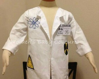 Mad Scientist Costume/ Mad scientist Lab Coat and Brain/ Mad Scientist Brain/ Brain Costume