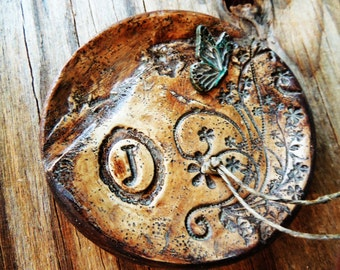 Ring Bearer Bowl Dish Pillow Alternative Butterfly Wedding Ring Holder Ring Plate Rustic Vintage Weddings Woodland Fairytale