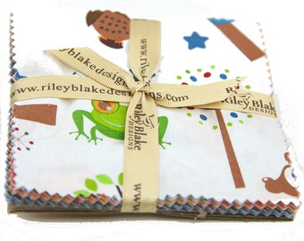 """Hooty Hoot Returns 5"""" Squares Charm Pack by Doohikey Designs for Riley Blake, 22 pieces"""