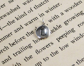 "Sterling Silver Letter  ""L"" Charm"