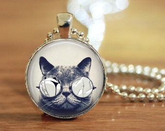 Cat Pendant, Cat Jewelry, Gift for Her, For Cat Lovers