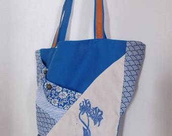 Patterns with textile print and Royal Blue Tote