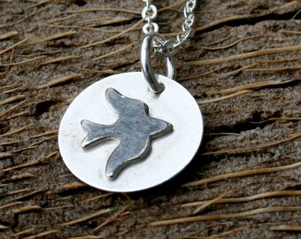 Sterling Silver Necklace - Soaring Bird