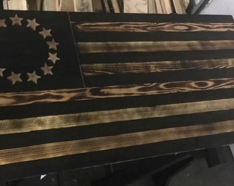 Blackout American Flag